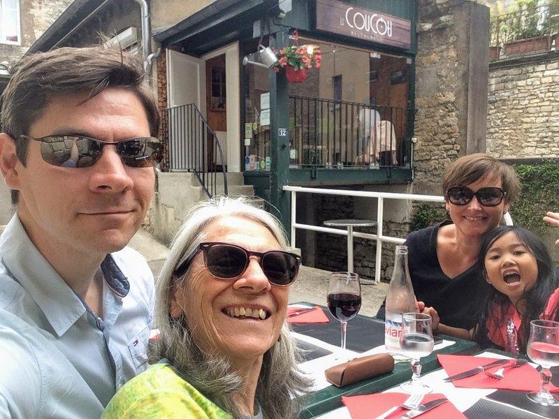 Lunch at La CouCou restaurant