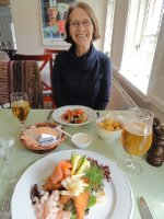 Lunch at Aalekroen overlooking Julsø