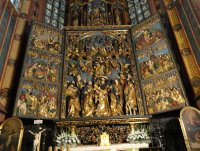 Magnificent 15thC altarpiece, St Mary's Basilica