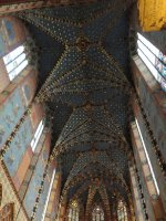 Ceiling and side murals, St Mary's Basilica, Krakow