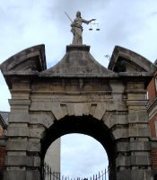 Gate of Justice, Dublin Castle. One of a pair of massive arches erected in the inner courtyard in 1750.