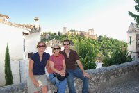 Looking over the Albaicin with Alhambra in background