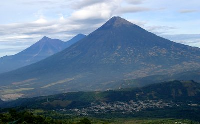 Volcanos surrounding Antigua