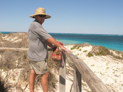 Tony taking in the view of Coral Bay