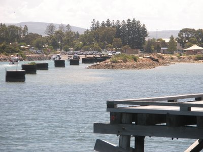 boat ramp at Franklin Harbour at Cowell