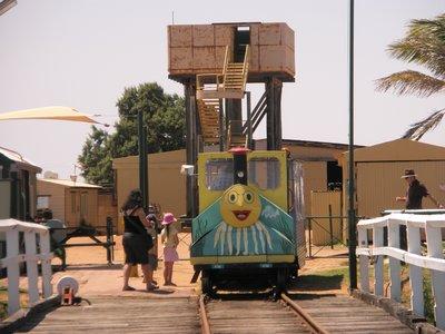 tram on 1 mile jetty at Carnarvon