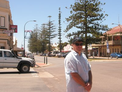 Tony in the main street at Cowell