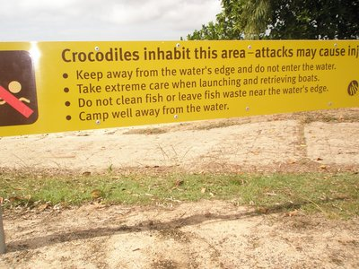 Croc warning sign at Cardwell