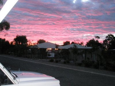 sunset on the Yorke Peninsula from Bertha's door