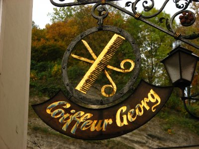 Coiffeur Georg hairdresser sign