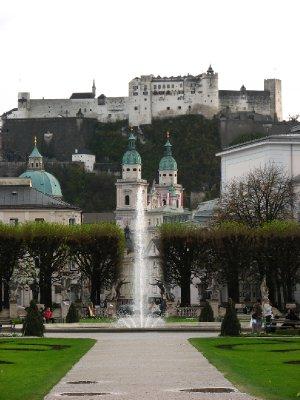 Mirabell Gardens and Festung Hohensalzburg