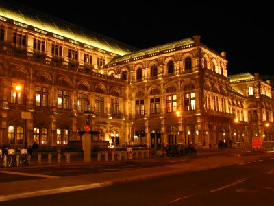 Vienna State Opera House by night