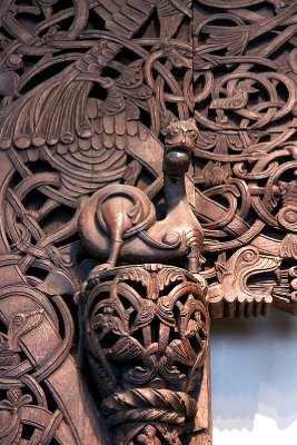 Detail of stave church door