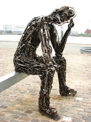 """The Key to the Future"" sculpture"