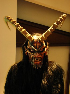 Krampus costume, from Tarvisio in the Veneto