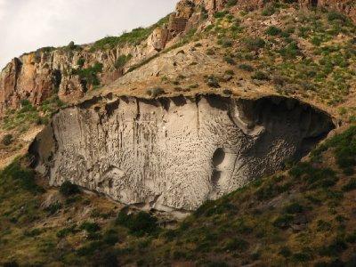 Mushroom rock formation