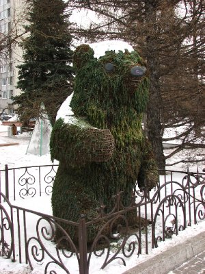 Bear topiary