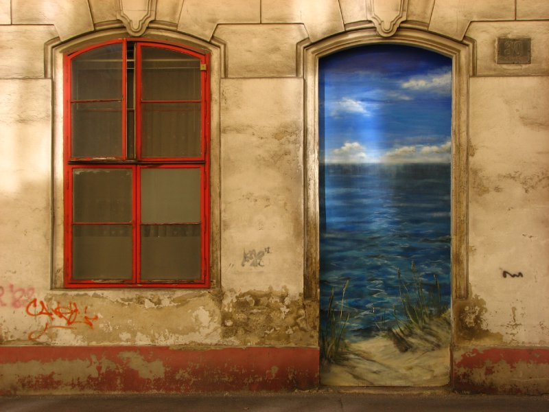 Seaside doorway