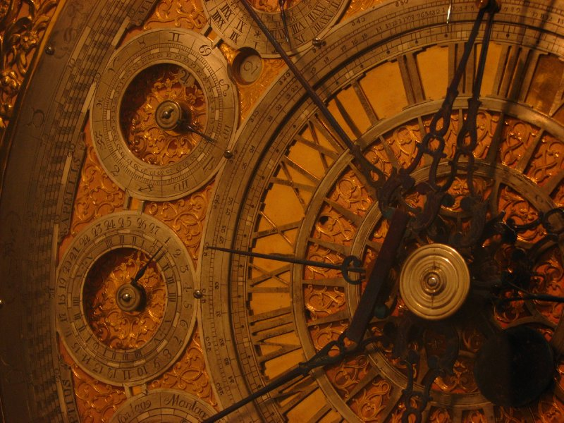 Astronomical clock detail