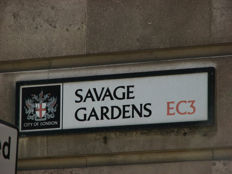 Savage Gardens street sign
