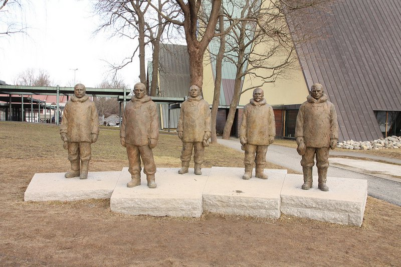 Sculpture celebrating the 100th anniversary of Amundsen reaching the South Pole