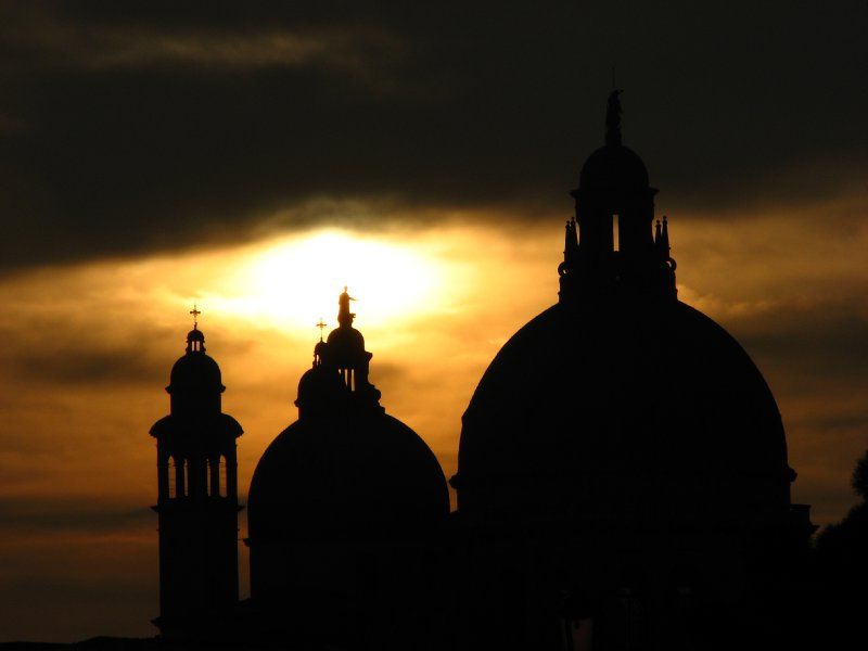 Sunset over the Basilica of Santa Maria della Salute