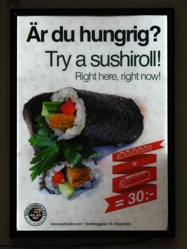 Swedish/English advert