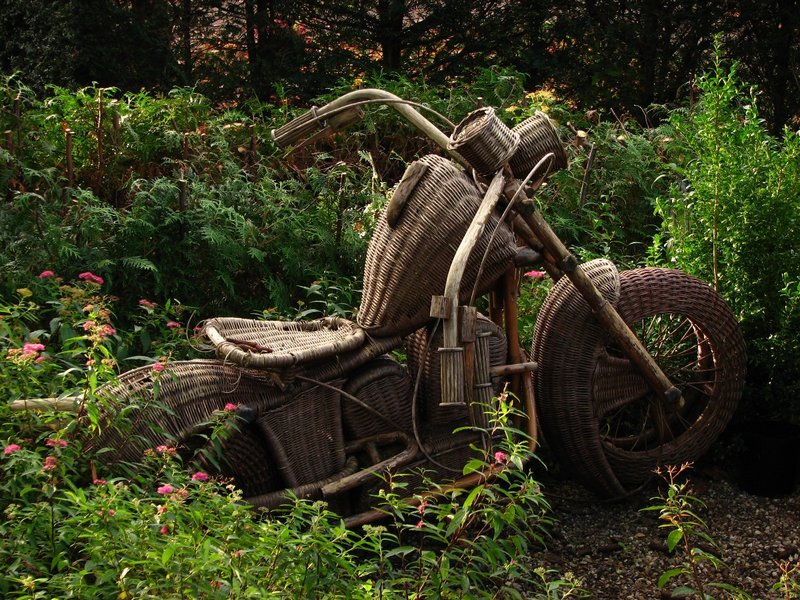 Wickerwork motorbike
