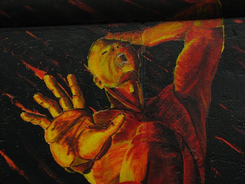 "Detail of ""Willkommen"" by Oliver Meline"