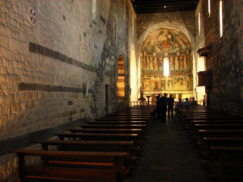 Interior and frescos