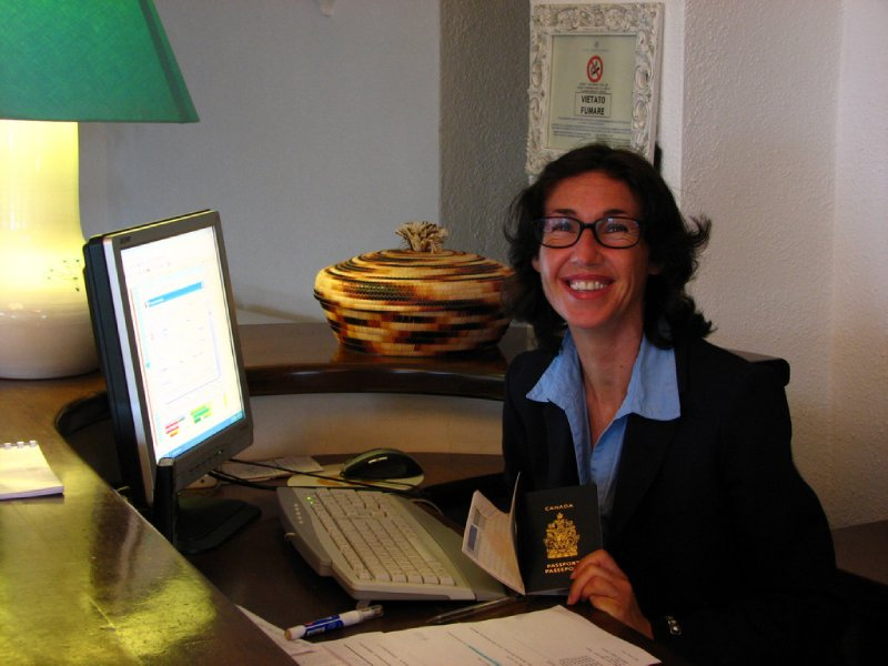 Receptionist at the Hotel Gabbiano Azzurro