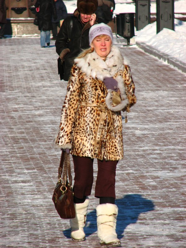 Fur-clad woman