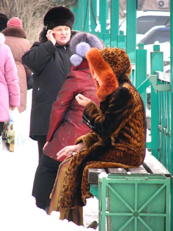 Fur-clad women