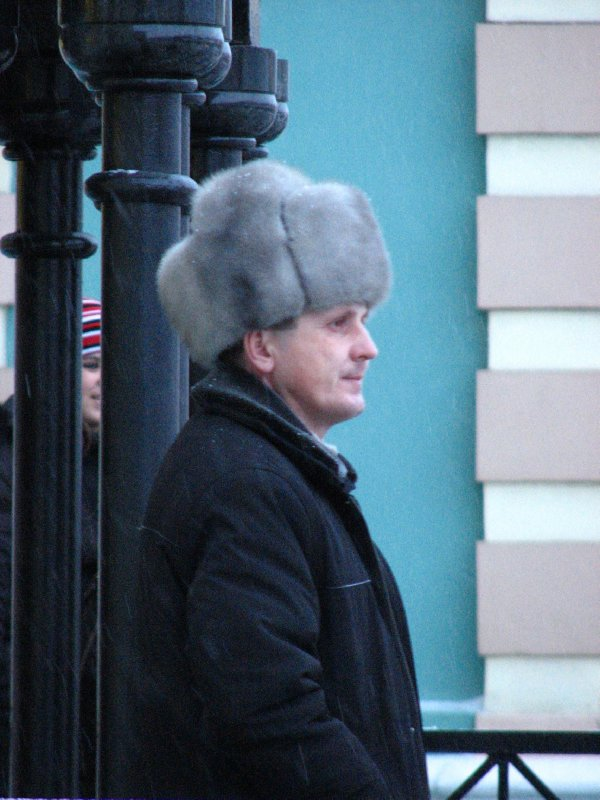 Fur-hatted man