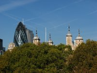 Skyline including 30 St Mary Axe and the Tower of London