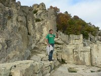 Me guiding a tour in Perperikon - the sacred city
