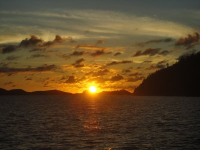 Sunrise on our boattour!