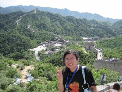 At the Great Wall of China! =)