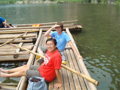 Me and Sean on our Raft at Shidu