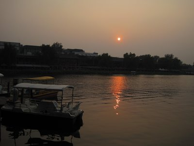 Houhai Sunset with Boating
