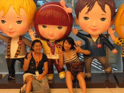 Me and Angelique with States in Wangfujin Mall