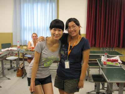 Me and Gong Laoshi (our liason)