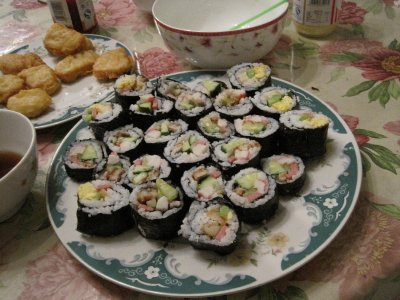 Sushi that we made