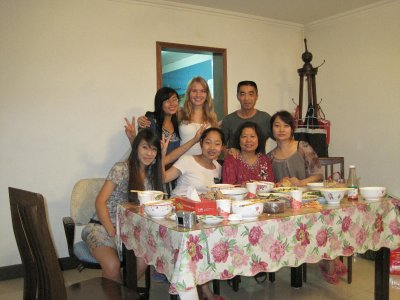My Host Family with Carrie and Angelique