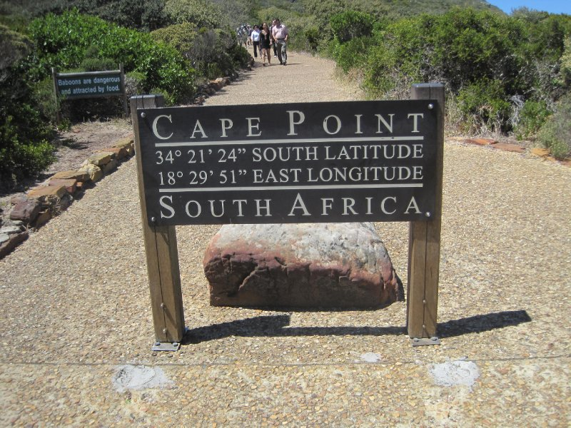 Sign at Cape Point