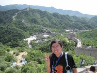 At the Great Wall of China!