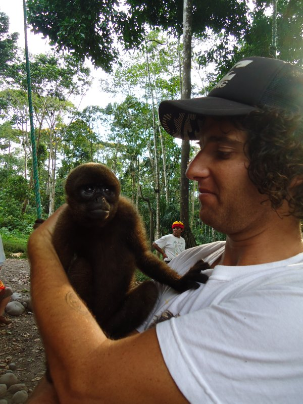 James making great connection with the monkey