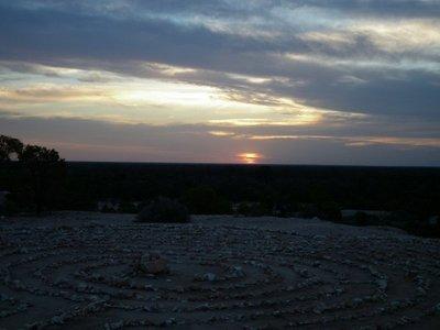 Sunset. Lightning Ridge