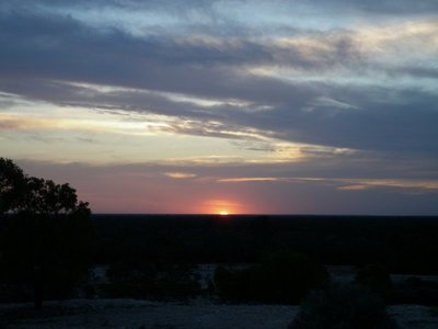 Sunset. Lightning Ridge