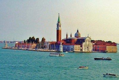 VENICE - Bacino San Marco, Venice, Palladio's Basilica San Giorgio Maggiore
